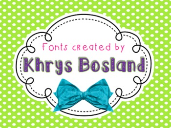 Font - Personal or Commercial Use: KB ABC Doodles