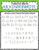 Font - Personal or Commercial Use: KB KinderWrite and KB KinderWrite Bold