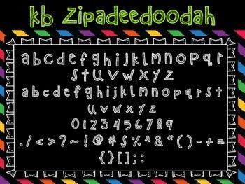 Font - Personal or Commercial Use: KB ZipaDeeDooDah