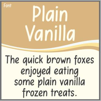 Font: Plain Vanilla (True Type Font)