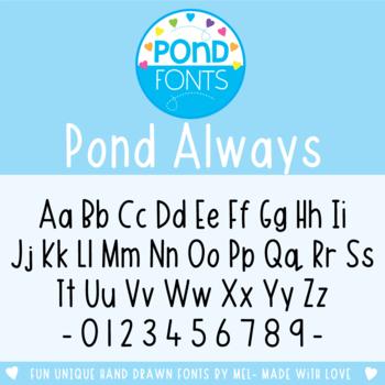 Font: Pond Always