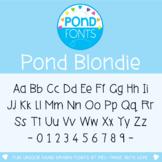 Font: Pond Blondie