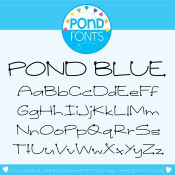 Font: Pond Blue