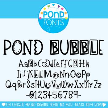 Font: Pond Bubble