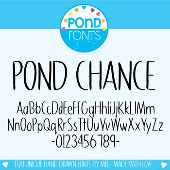 Font: Pond Chance
