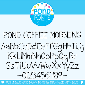 Font: Pond Coffee Morning