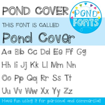Font: Pond Cover