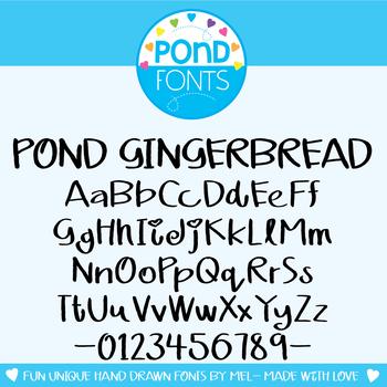 Font: Pond Gingerbread