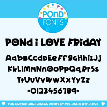 Font: Pond I Love Friday