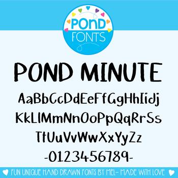 Font - Pond Minute