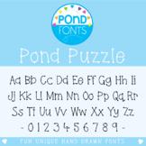 Font - Pond Puzzle