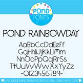 Font: Pond Rainbowday