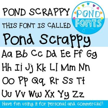 Font: Pond Scrappy