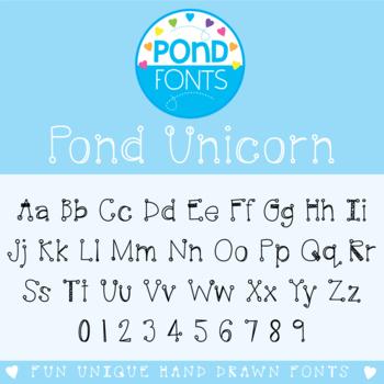 Font: Pond Unicorn