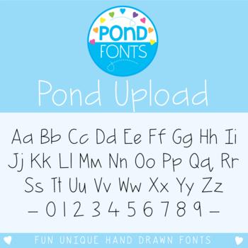 Font: Pond Upload