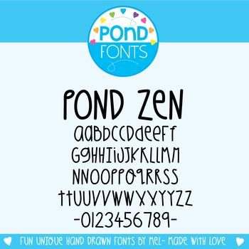 Font: Pond Zen