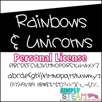 Font: Rainbows and Unicorns Commercial License