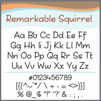 Font: Remarkable Squirrel (True Type Font)