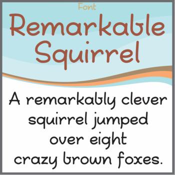 Font: Remarkable Squirrel (True Type Font)