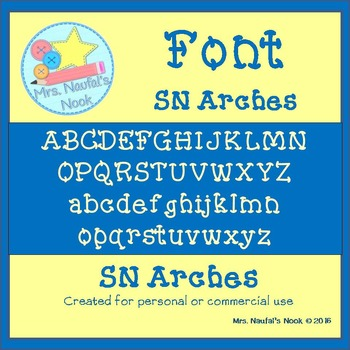Font Commercial Use SN Arches