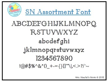 Font SN Assorted