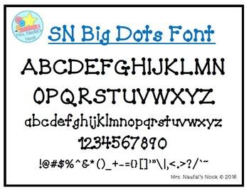 Font SN Big Dots