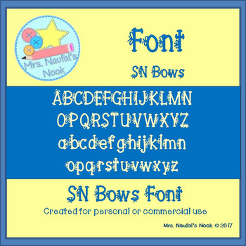 Font Commercial Use SN Bows