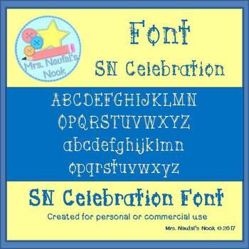 Font Commercial Use SN Celebration
