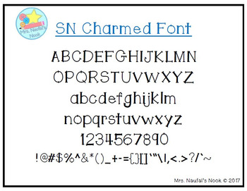 Font SN Charmed