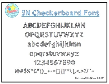 Font Commercial or Personal Use SN Checkerboard