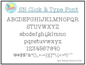 Font SN Click & Type