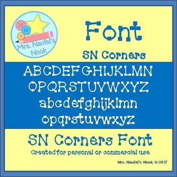 Font Commercial Use SN Corners