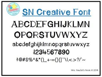 Font SN Creative