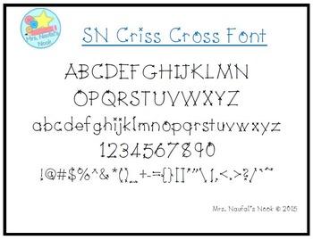 Font SN Criss Cross