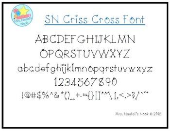 Font License Commercial or Personal Use SN Criss Cross