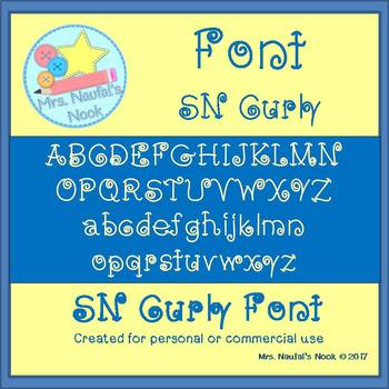 Font Commercial Use SN Curly