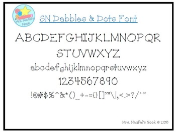 Font SN Dabbles and Dots