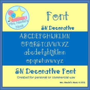 Font SN Decorative