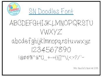 Free Font SN Doodles