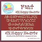 Valentine's Day Font SN Happy Hearts