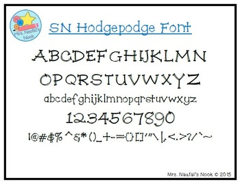 Font SN Hodgepodge
