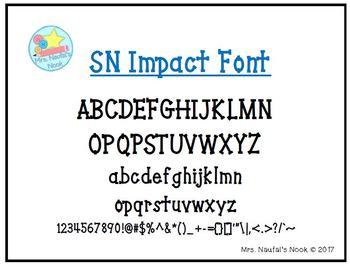 Font SN Impact