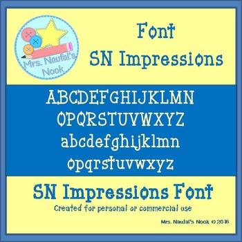 Font SN Impressions
