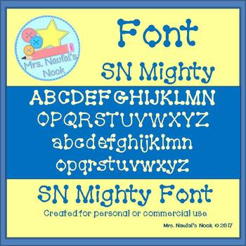 Font Commercial Use SN Mighty