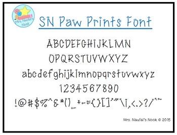 Font SN Paw Prints