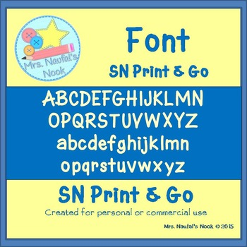 Font SN Print and Go