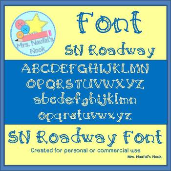 Font Commercial Use SN Roadway