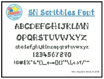 Font Commercial Use SN Scribbles