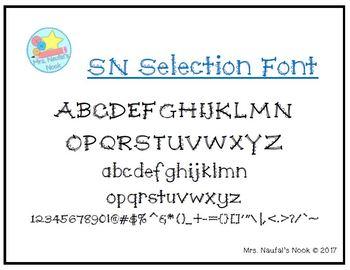 Font SN Selection