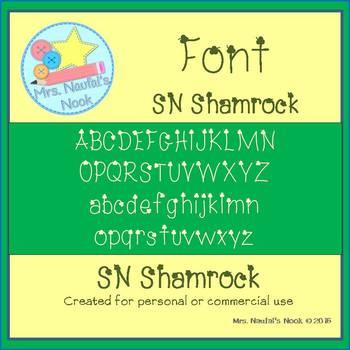 St. Patrick's Day Font SN Shamrock